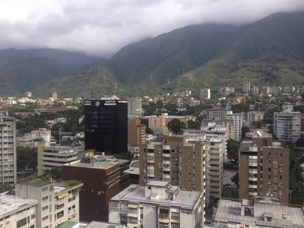 Looking north west across Caracas to the Ávila mountain