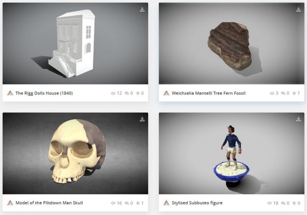 free 3d scans on Sketchfab